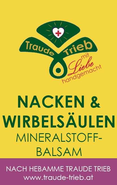 Nacken & Wirbelsäulen Mineralstoffbalsam | Traude Trieb Webshop
